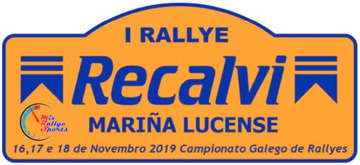 Placa Rally Mariña Lucense 2019