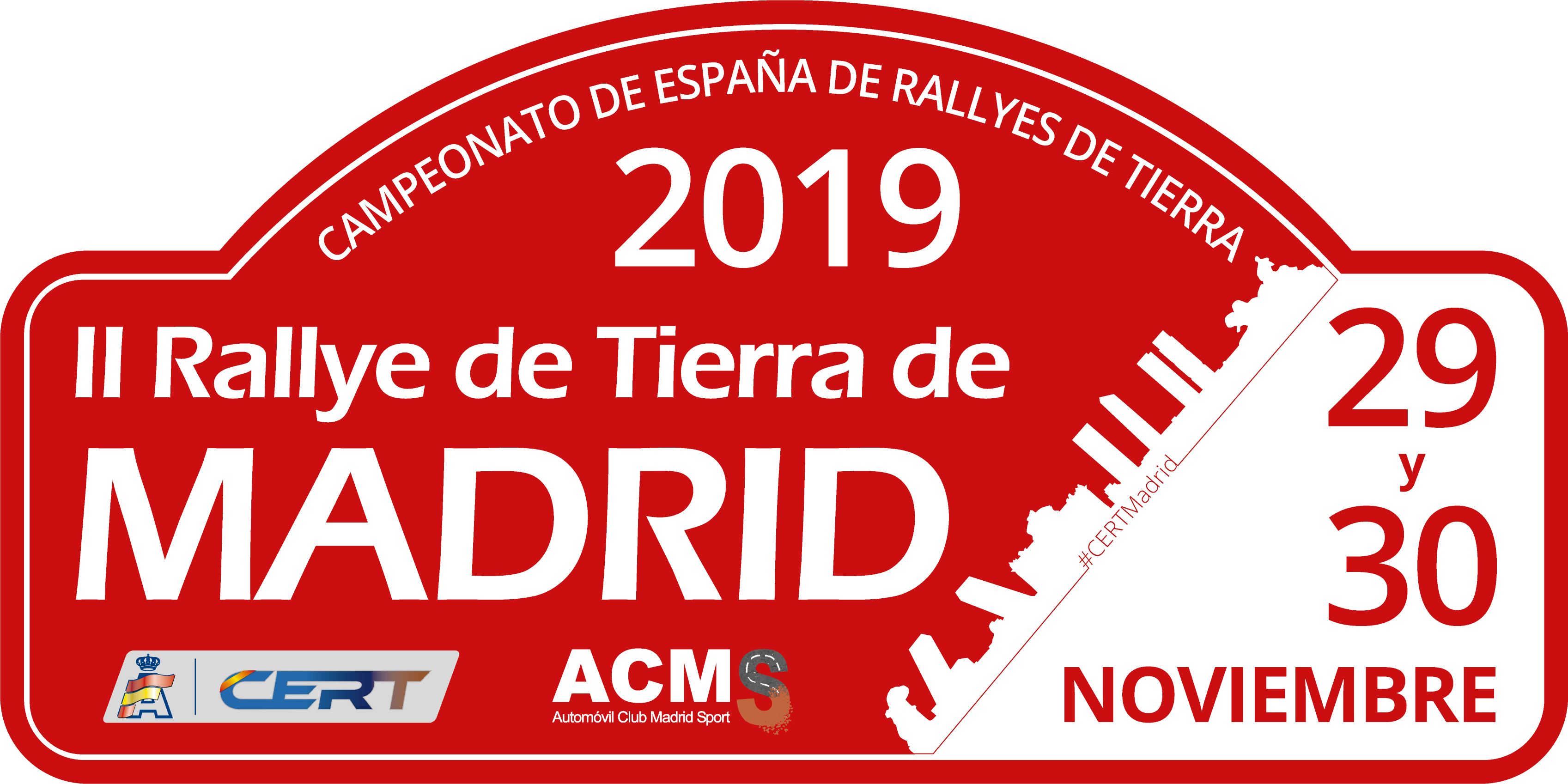 Placa Rally de Madrid 2019