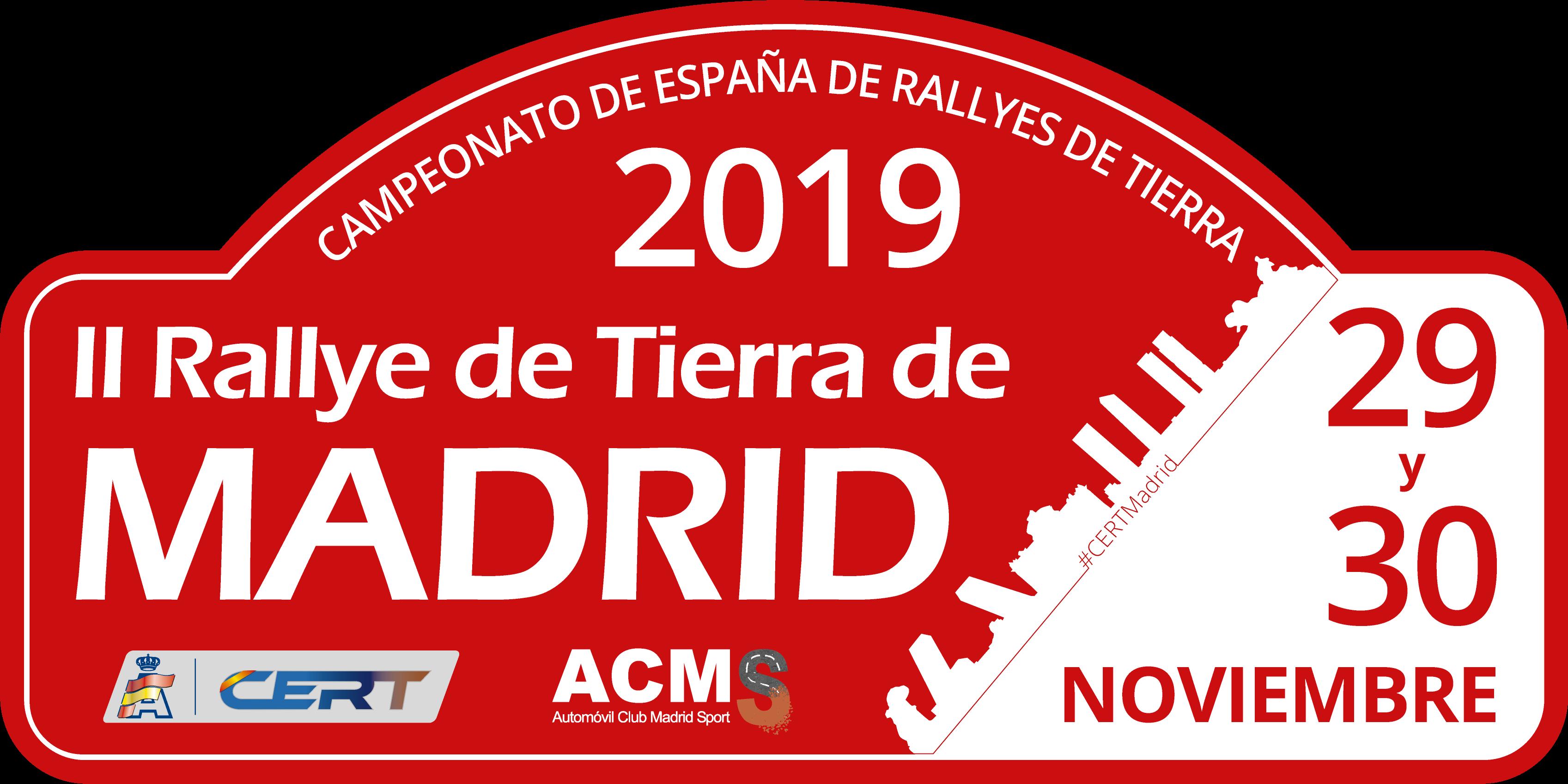 Placa Rally de Madrid 2019
