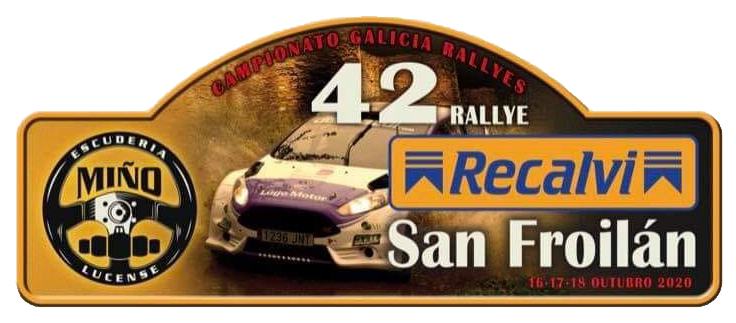 Placa 42 Rally San Froilan 2020