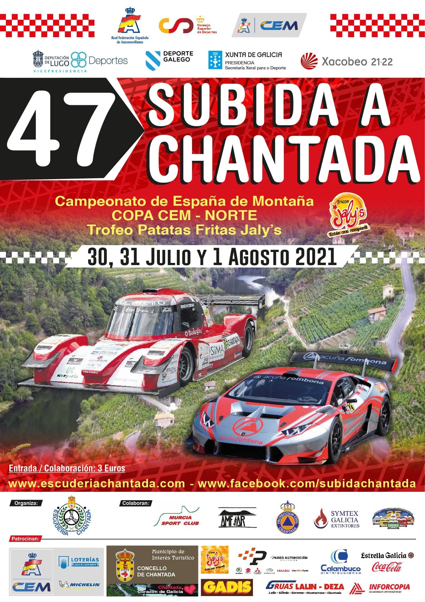 Cartel 47 Subida a Chantada 2021
